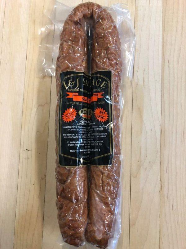 Double smoked garlic mennonite farmer-sausage